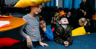 Занятия в детском клубе Federleicht