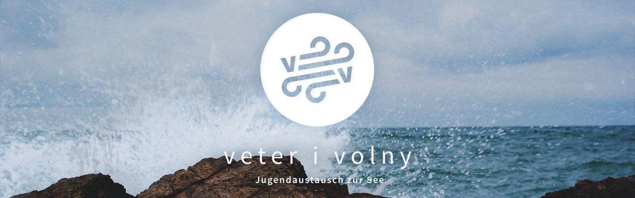 молодёжный обмен ветер и волны лого.