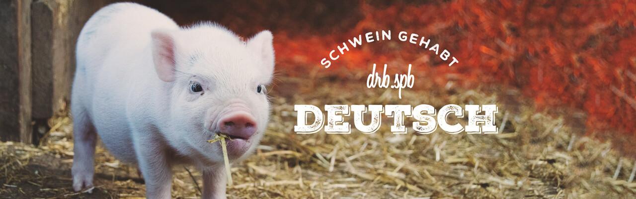 Обучение немецкому языку под влиянием… поросят.
