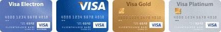 Логотипы карт VISA